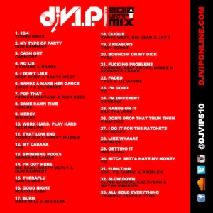 2012 Wrap Up Mix Back Artwork